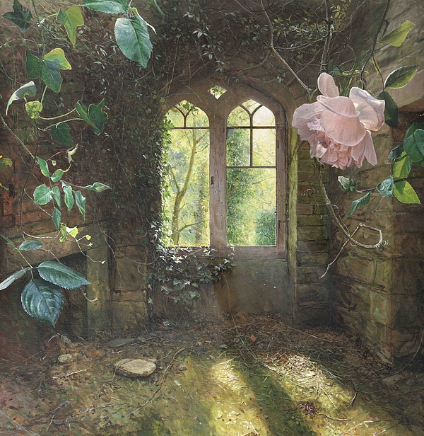 Rose Painting - Waiting For Loves First Kiss by Helen Parsley