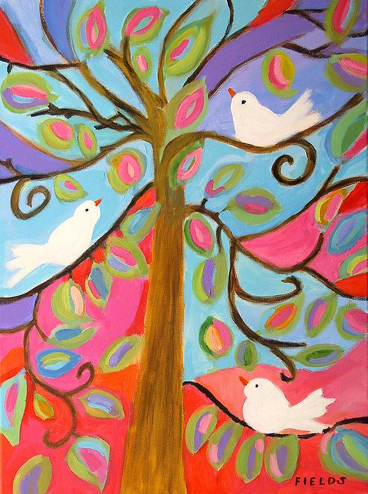 Birds Painting - Waiting For Summer by Karen Fields
