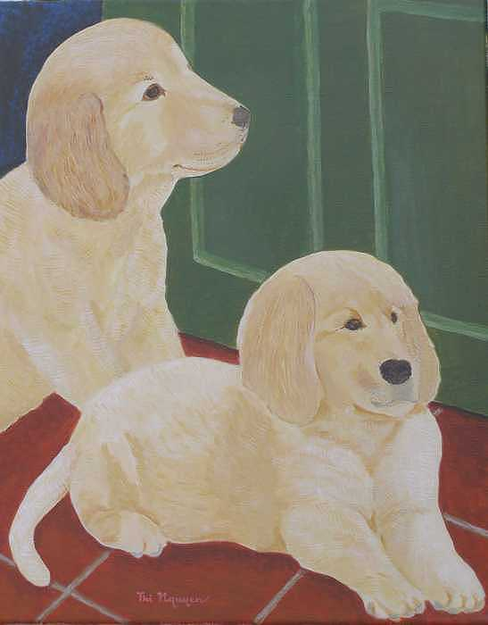 Animals Painting - Waiting For You To Come Home by Thi Nguyen
