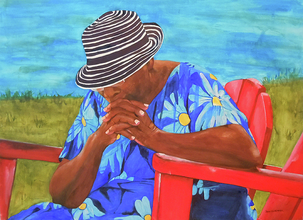 Caribbean Painting - Waiting Patiently by Jean Blackmer