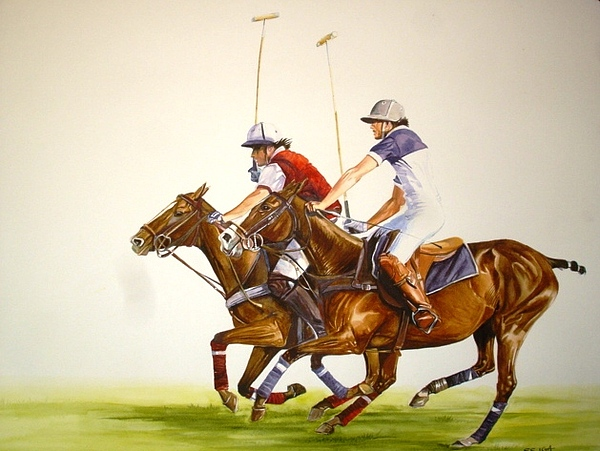 Polo Painting - waiting To Exhale by Sabrina Siga