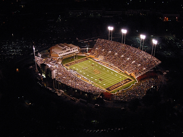 Wake Forest Photograph - Wake Forest Aerial View Of Bb And T Field by John Grogan