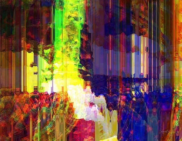 Abstraction Mixed Media - Waking Up Happy by Fania Simon
