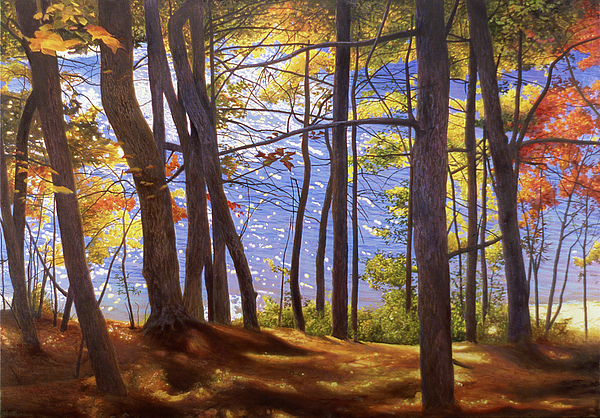 Fall Painting - Walden Pond IIi by Art Chartow