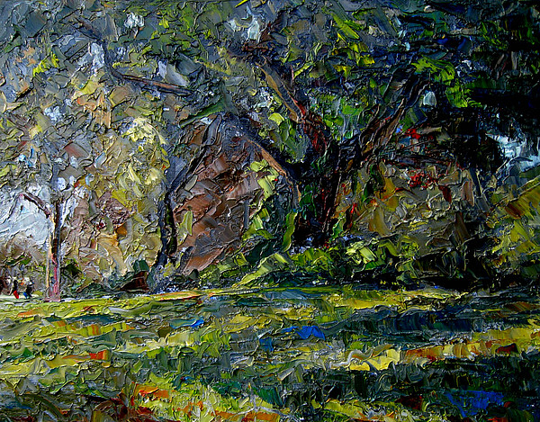 Plein Air Painting - Walk In The Woods by Mark Hartung