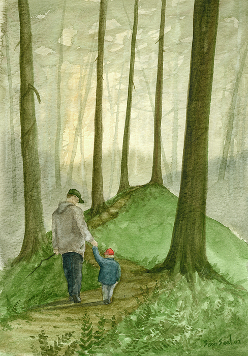 Father Painting - Walk In The Woods by Sean Seal