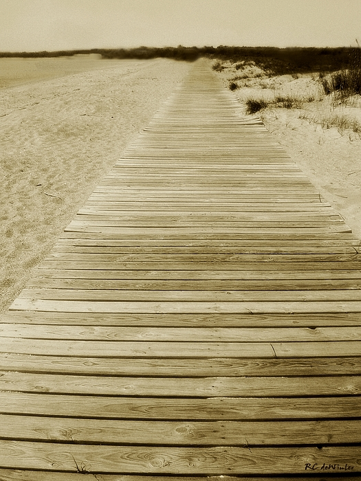 Beach Photograph - Walking Into Forever by RC DeWinter