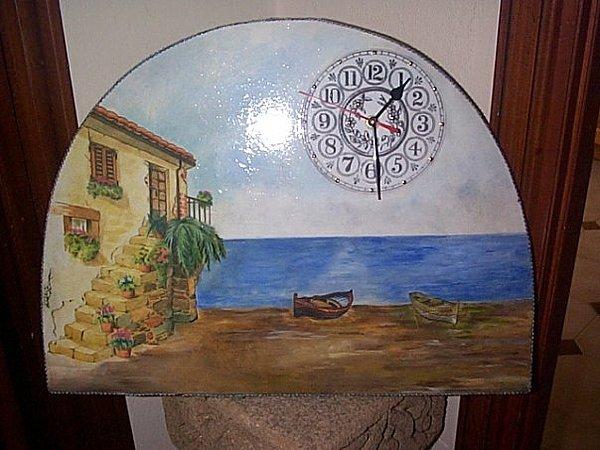 Wall Clock Painting - Wall Clock by Oriana Bordignon
