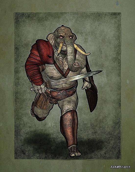 Conan Digital Art - War Beast by Ken Morris