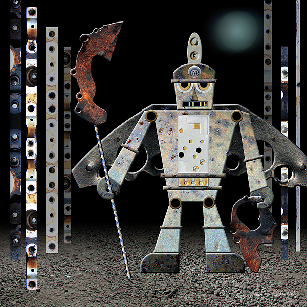 Robot Photograph - War Games With Fritz by Joan Ladendorf