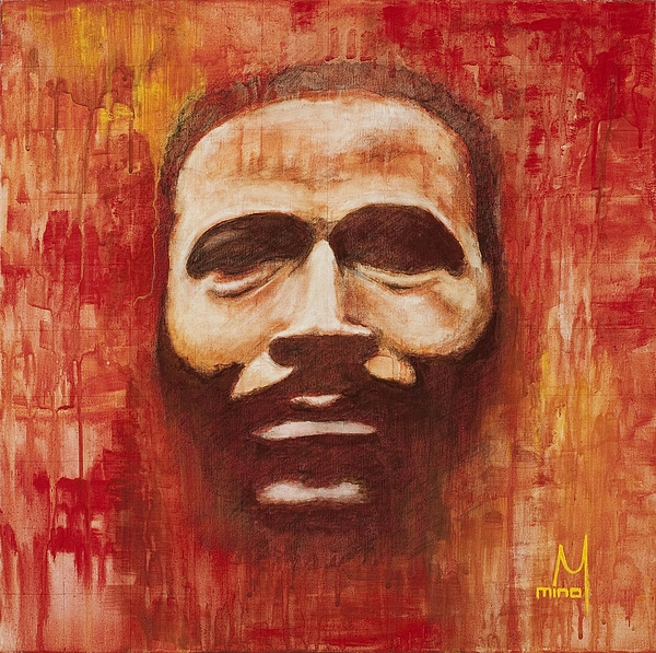Marvin Gaye Painting - War Is Not The Answer by Mina Marquette Hutchins