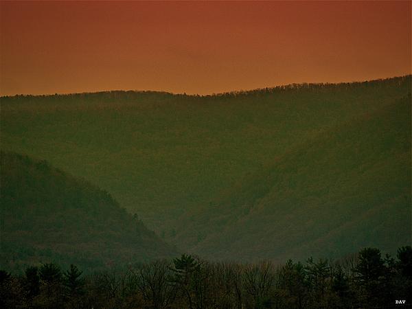 Mountains Photograph - Warm Spring Mountains by Debra     Vatalaro