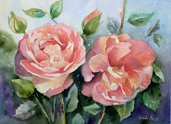Watercolors Painting - Warm Summer Glow by Bobbi Price