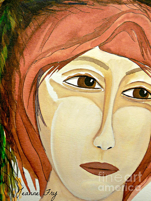 Authentic Self Painting - Warrior Woman - No Apologies by Jean Fry