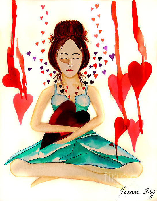 Warrior Woman Painting - Warrior Woman - Tend To Your Heart by Jean Fry
