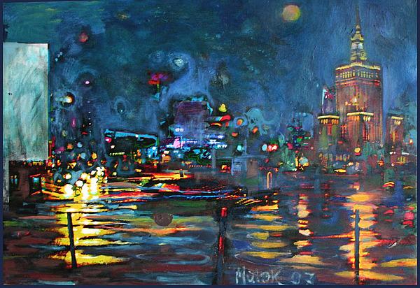 Warsaw.pl Painting by Janusz Mulak