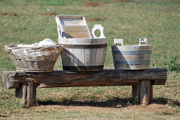 Blanton Photograph - Wash Day by Teresa Blanton