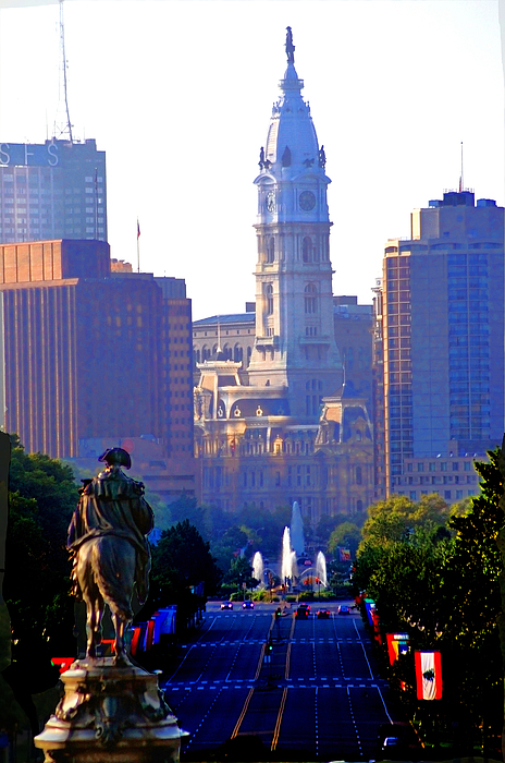 Philadelphia Photograph - Washington Looking Over To City Hall by Bill Cannon