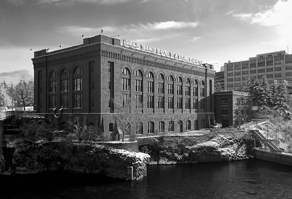 Spokane Photograph - Washington Water Power Post Street Station - Spokane Washington by Daniel Hagerman