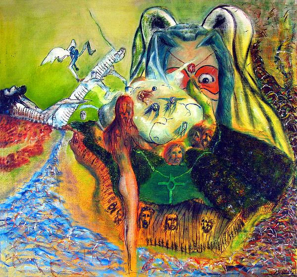 Surrealism Painting - Watcher Of The Skies by Albert Puskaric