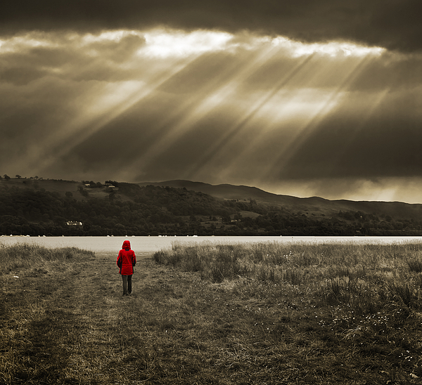 Walker Photograph - Watching In Red by Meirion Matthias