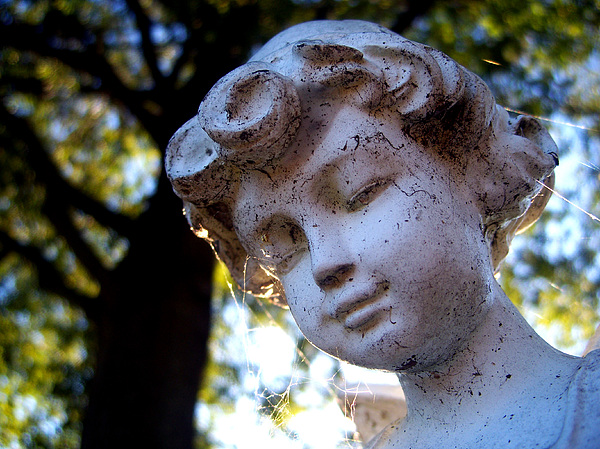Statue Photograph - Watching Over You by Alexandra Harrell