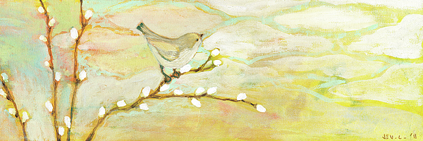 Bird Painting - Watching The Clouds No 3 by Jennifer Lommers