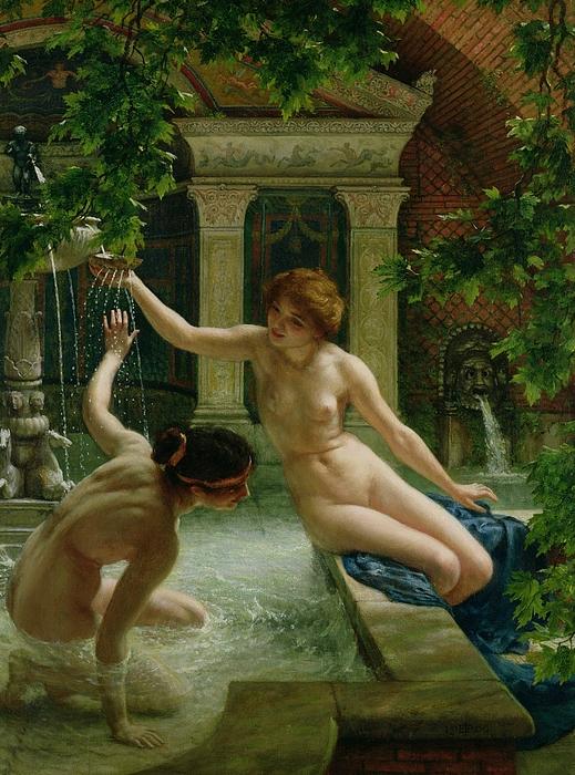 Nude Painting - Water Babies by Sir Edward John Poynter