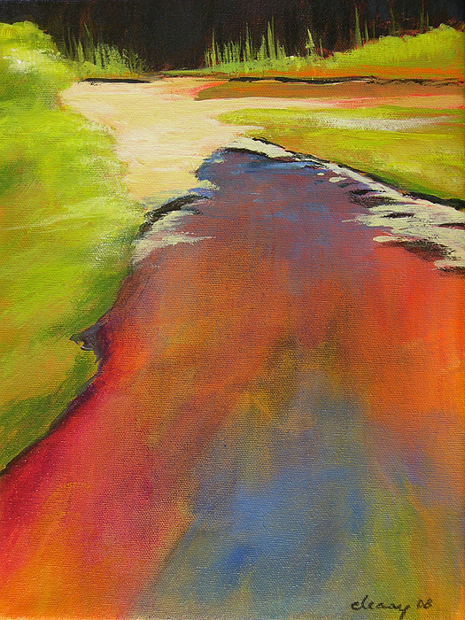 Landscape Painting - Water Garden Landscape 7 by Melody Cleary
