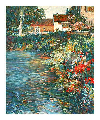 Landscape Painting - Water Garden by Plisson Henri