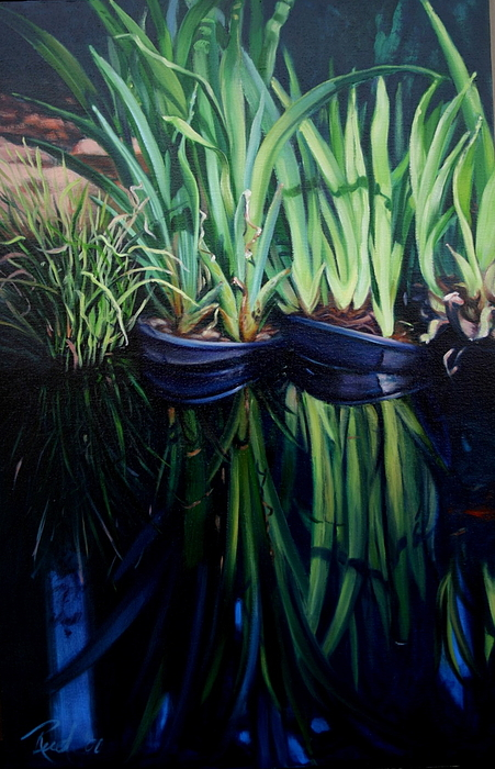 Landscape Painting - Water Garden Serie-h by Patricia Reed