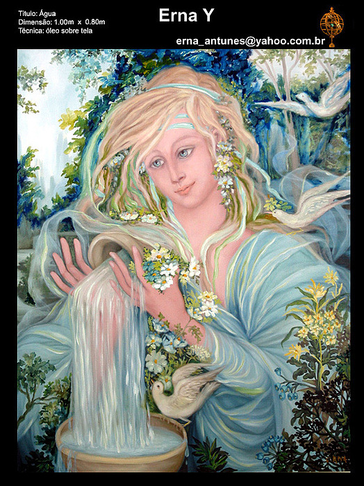 Water Goddess Painting by Erna Y