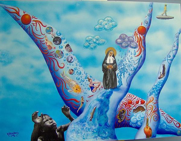 Nun Painting - Water by Kathy Blackburn