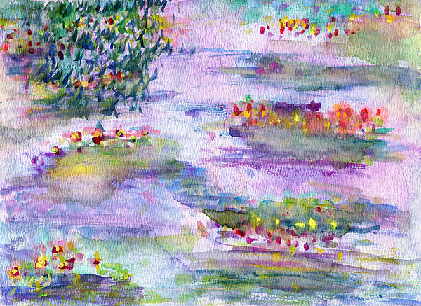 Nature Painting - Water Lilies by Janpen Sherwood