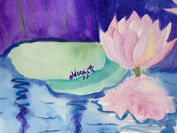 Pink Flowers Painting - Water Lilly by Janet Doggett
