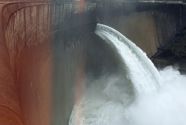 Africa Photograph - Water Pours Over The Kariba Dam by James L. Stanfield