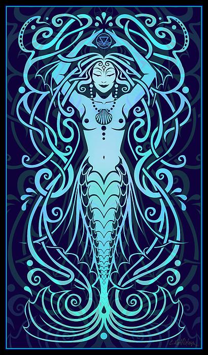 Goddess Digital Art - Water Spirit by Cristina McAllister