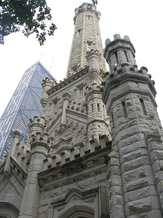 Chicago Photograph - Water Tower And Sears Tower by Brittany Horton