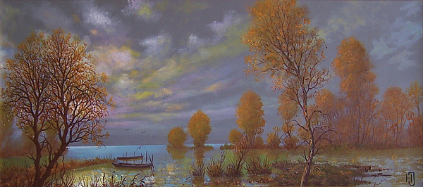 Olaj Painting - Water World Of Light by Jozsef Horvath