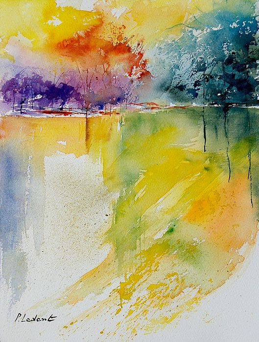Pond Painting - Watercolor 800142 by Pol Ledent