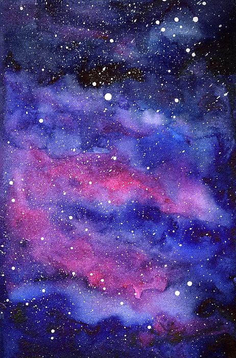 Galaxy Artwork Watercolor Galaxy Pink...