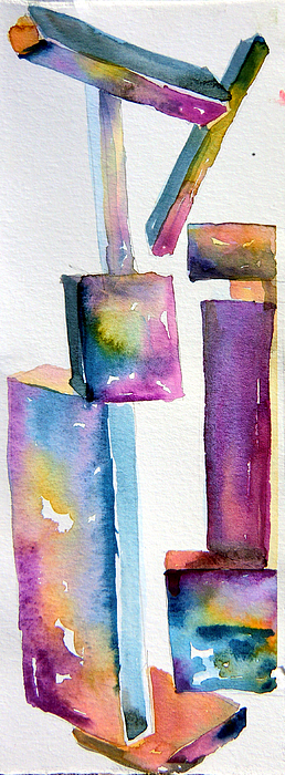 Sculpture Painting - Watercolor Sculpture by Mindy Newman
