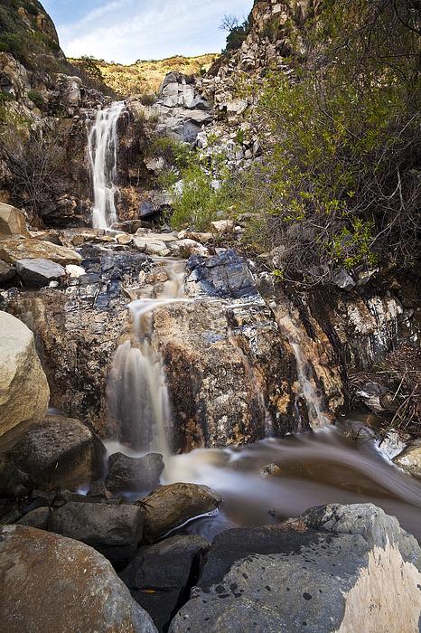California Photograph - Waterfall At La Jolla Canyon by Greg Clure