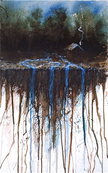 Waterfall Painting by Michael Ryan