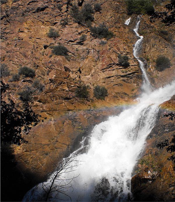 Waterfall Photograph - Waterfall Rainbow by Jan  Tribe