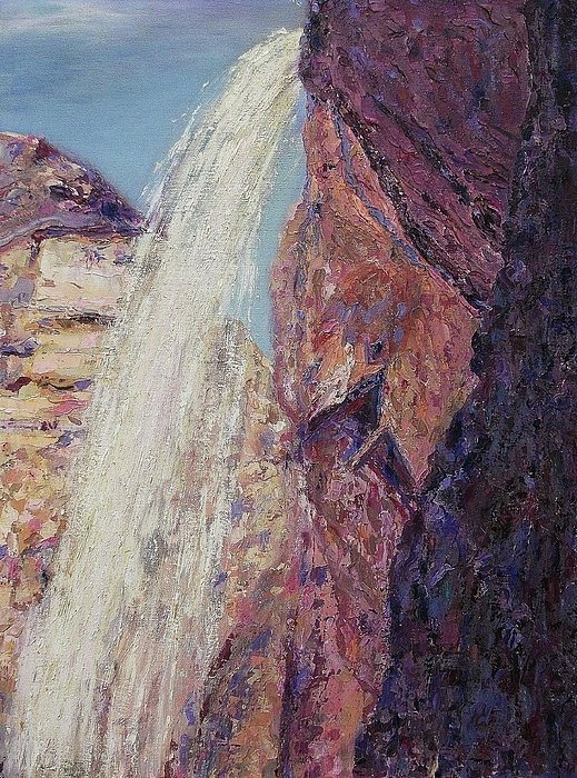 Waterfall Painting - Waterfall by Suzanne  Marie Leclair