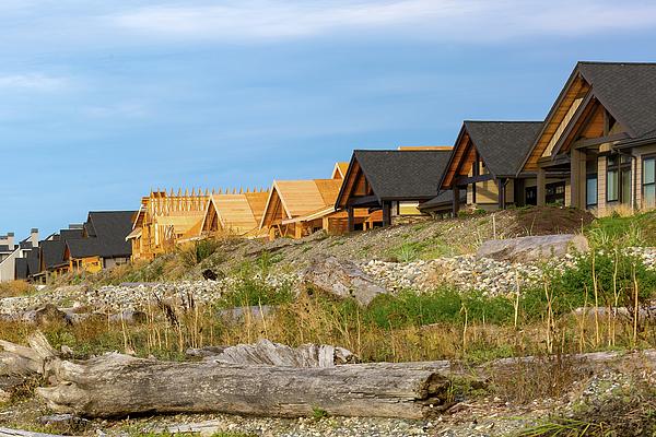 Semiahmoo Bay Photograph - Waterfront Condominiums On The Beach Of Semiahmoo Bay by David Gn