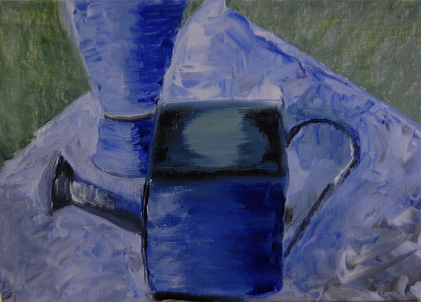 Oil Painting - Watering Can by Michele Flannery
