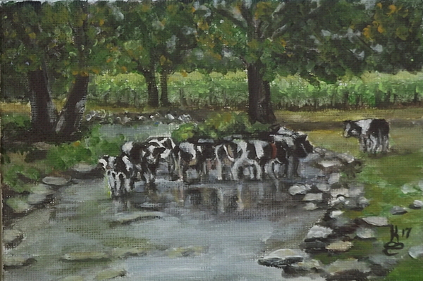 Acrylic Painting - Watering Hole by Kim Selig