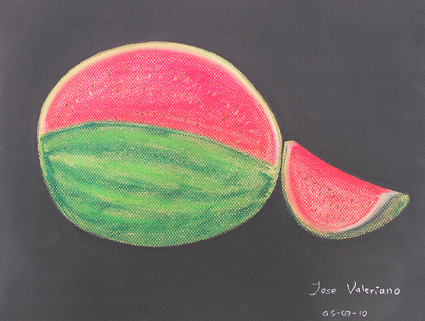 Fruit Pastel - Watermelon by M Valeriano
